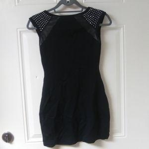 Express SZ XS black studded mini dress